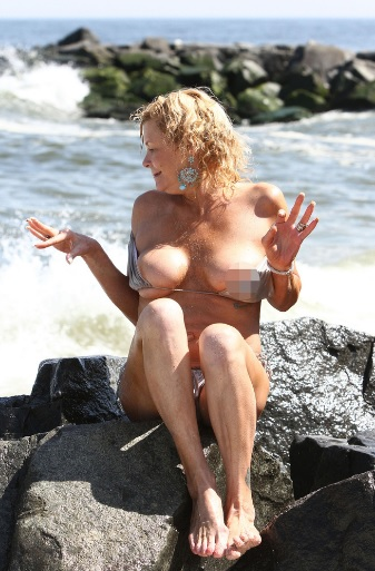 tan mom blurred nipple