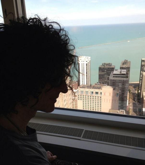 Beth Stern tweeted this photo of Howard Stern at his hotel in Chicago on May 7, 2013.