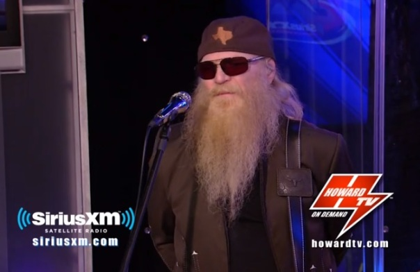 zz top on the howard stern show